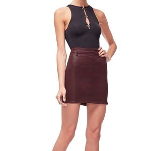 Good American Skirts - NWT Good American Waxed Mini Skirt!